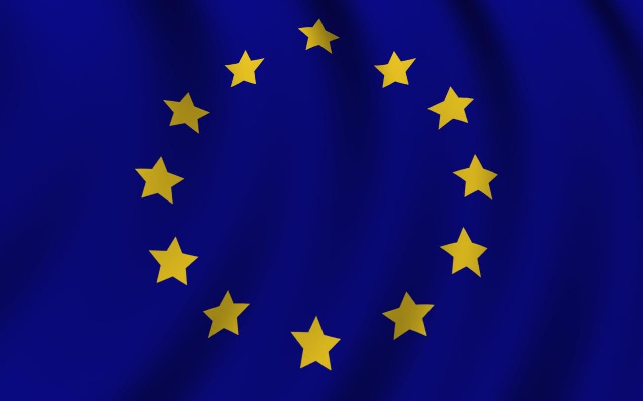 Download EU flag wallpaper in 1280x800 screen resolution [1280x800 1280x800