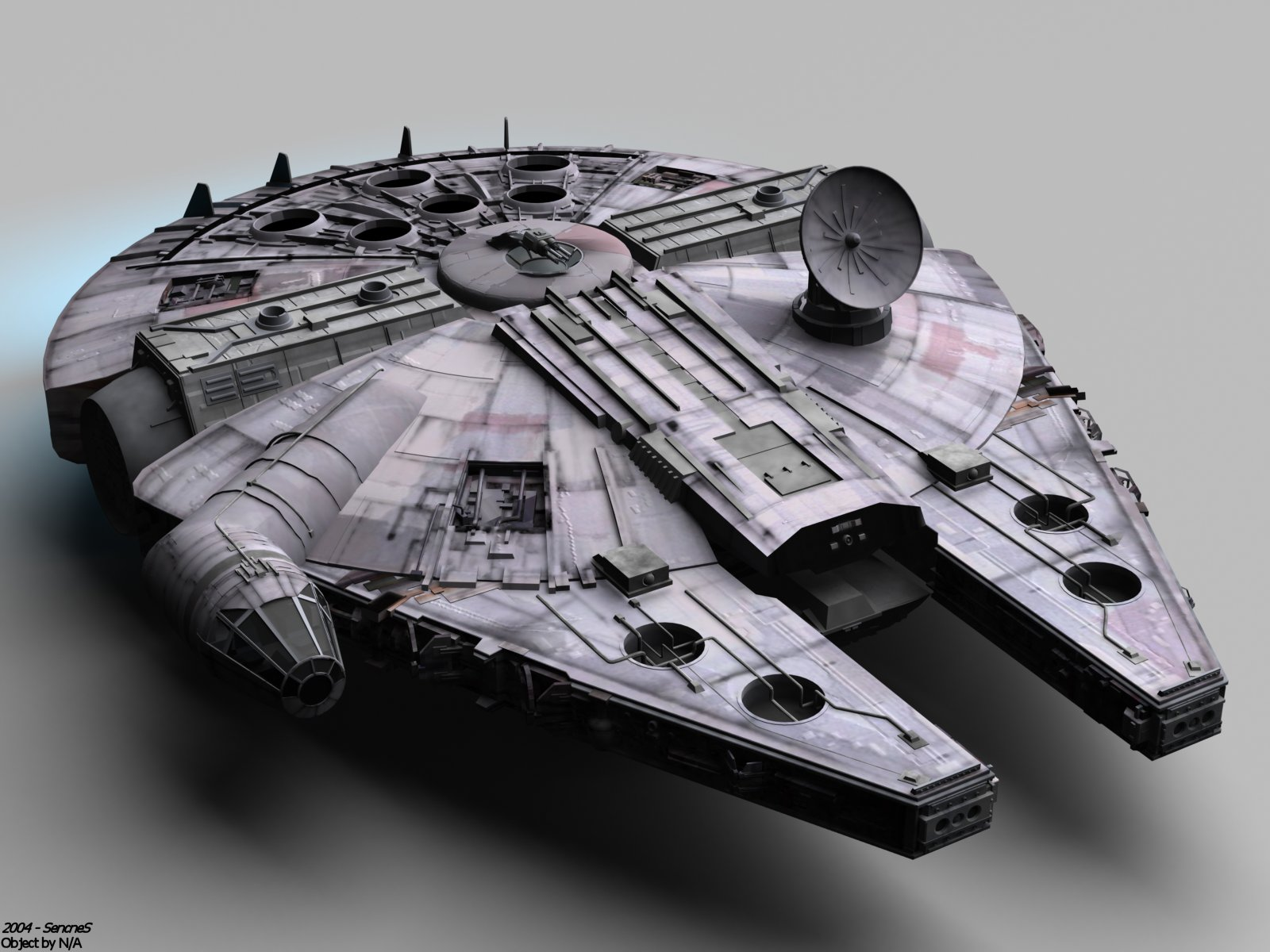 Star Wars Millennium Falcon by SencneS 1600x1200