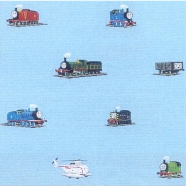 THOMAS THE TRAIN ON BLUE WALLPAPER   All 4 Walls Wallpaper 650x650
