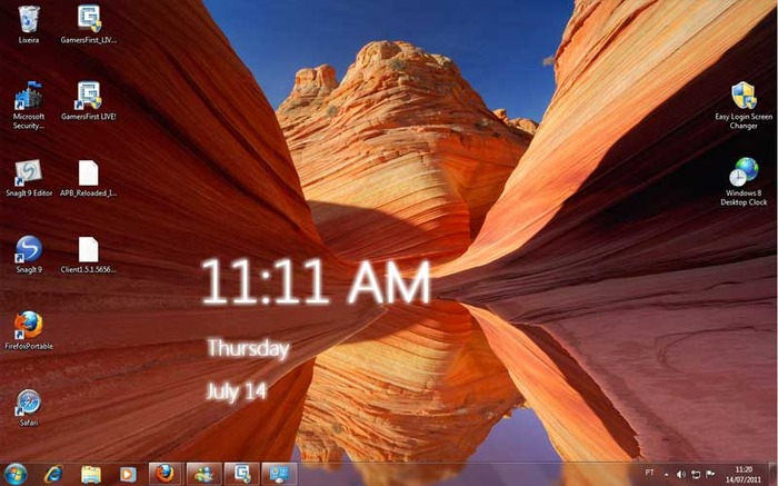 Windows 8 clock on your Windows 7 desktop 700x437
