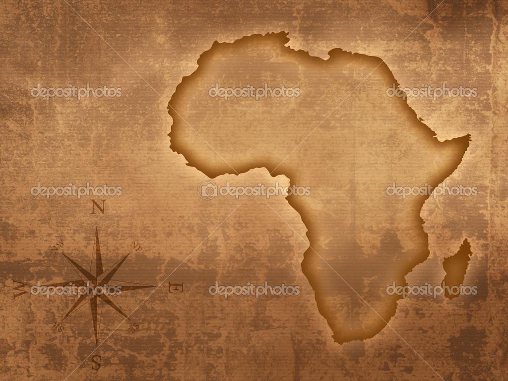 Africa Map Wallpaper 1024x768