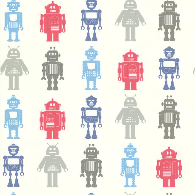 Robot League Multicolor Robots Wallpaper   Eclectic   Wallpaper   by 640x640