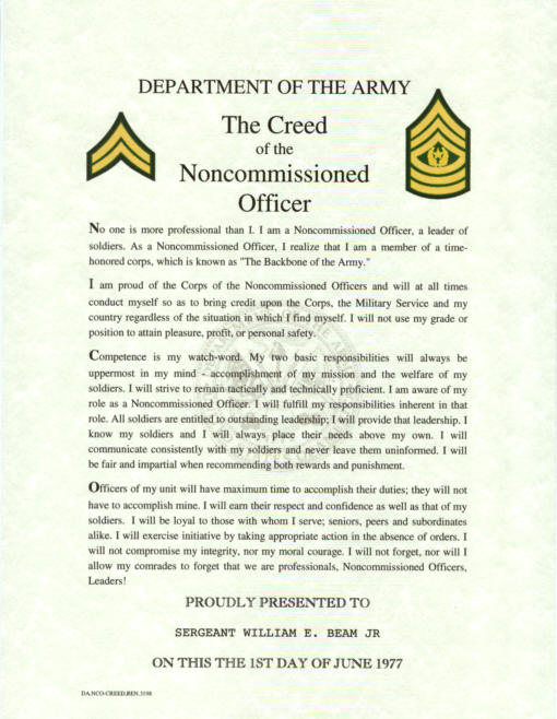 army nco creed by christopher 510x658