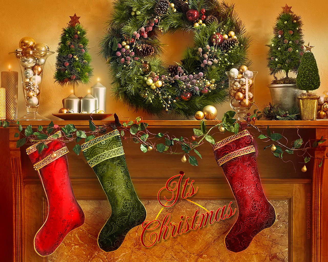 HD WALLPAPERS Christmas Decoration Wallpapers 1280x1024