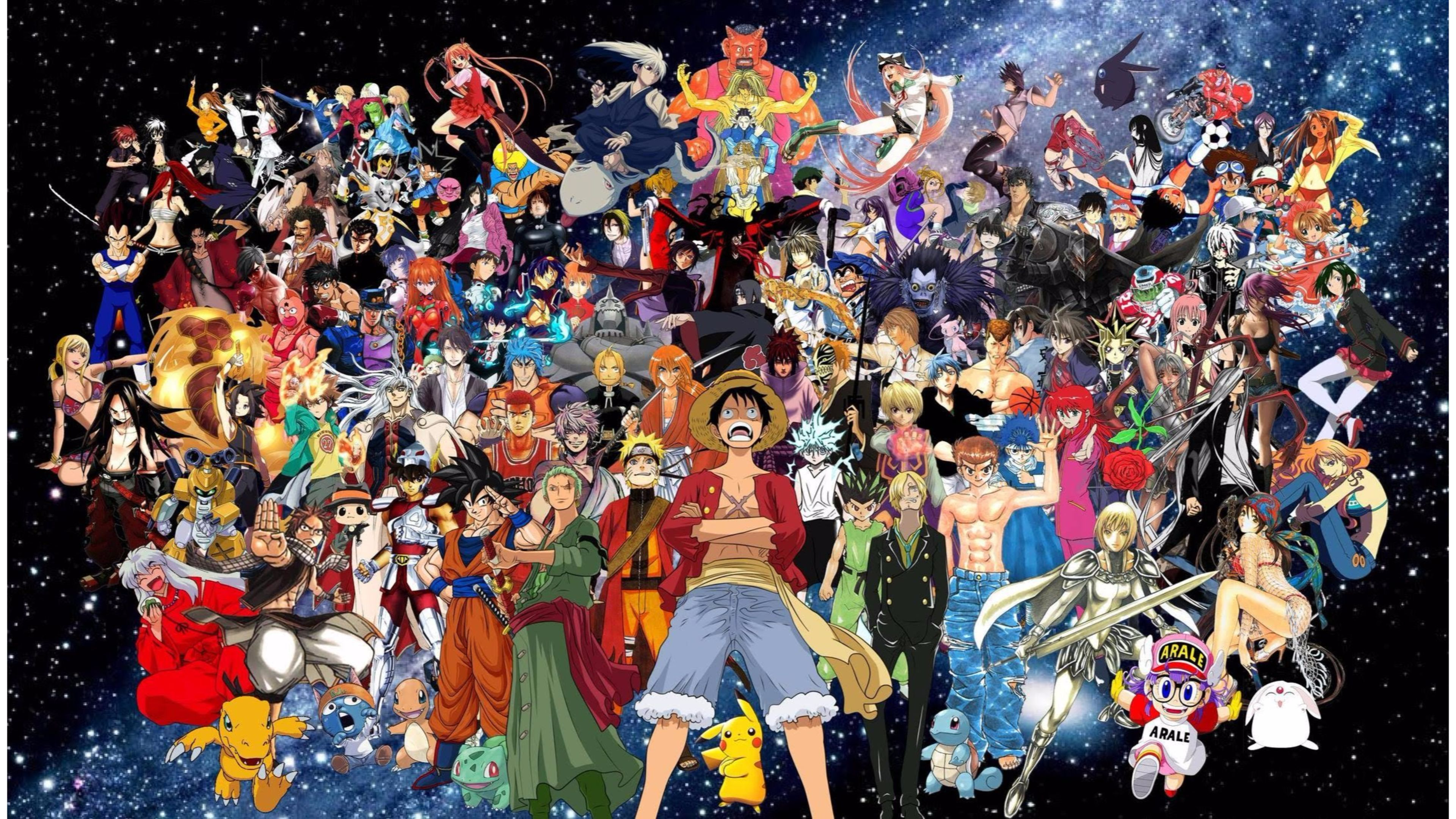 Anime Collage Wallpapers   Top Anime Collage Backgrounds 3840x2160
