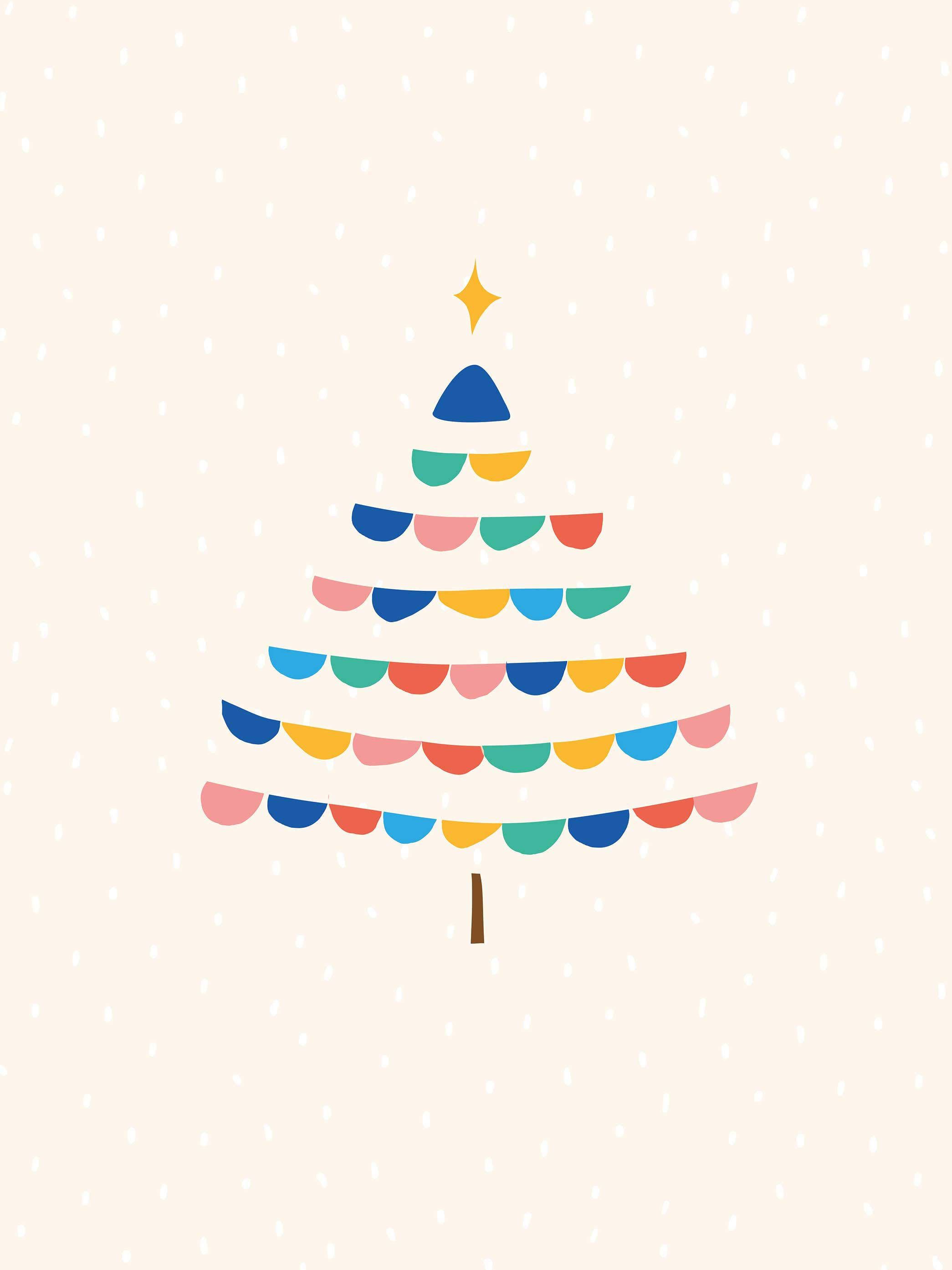 Christmas tree desktop phone and tablet wallpaper Make and Tell 2090x2786