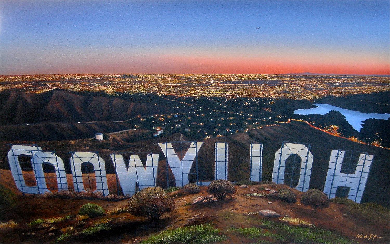 Hollywood Sign Wallpaper Hollywood Sign at Sunset 1500x936