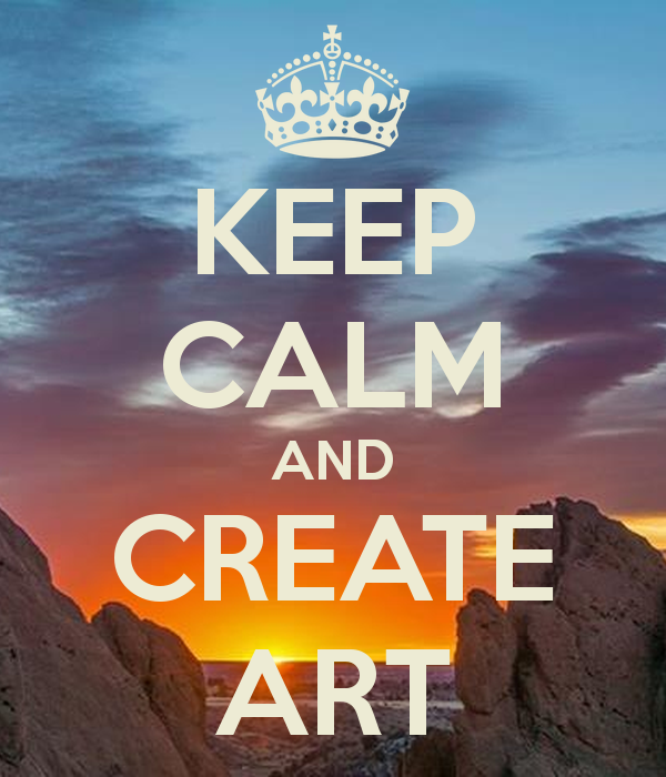 KEEP CALM AND CREATE ART   KEEP CALM AND CARRY ON Image Generator 600x700