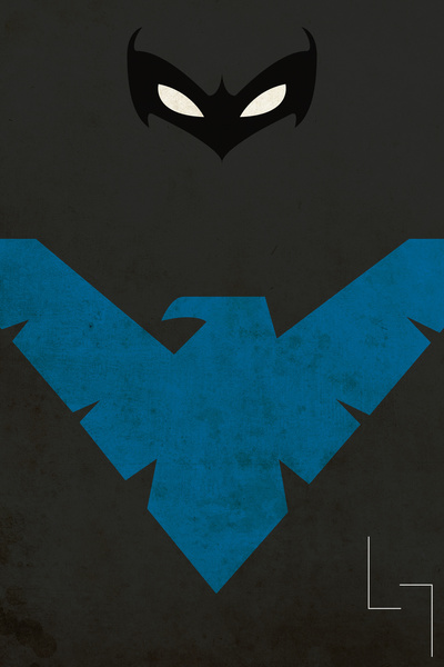 Nightwing Logo Wallpaper Iphone Images Pictures   Becuo 400x600