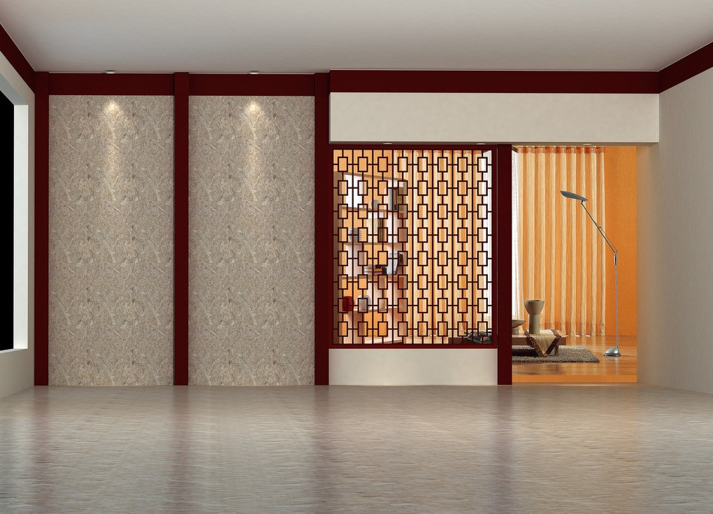 Chinese walls and fences for interior design 3D house 3D house 1020x735