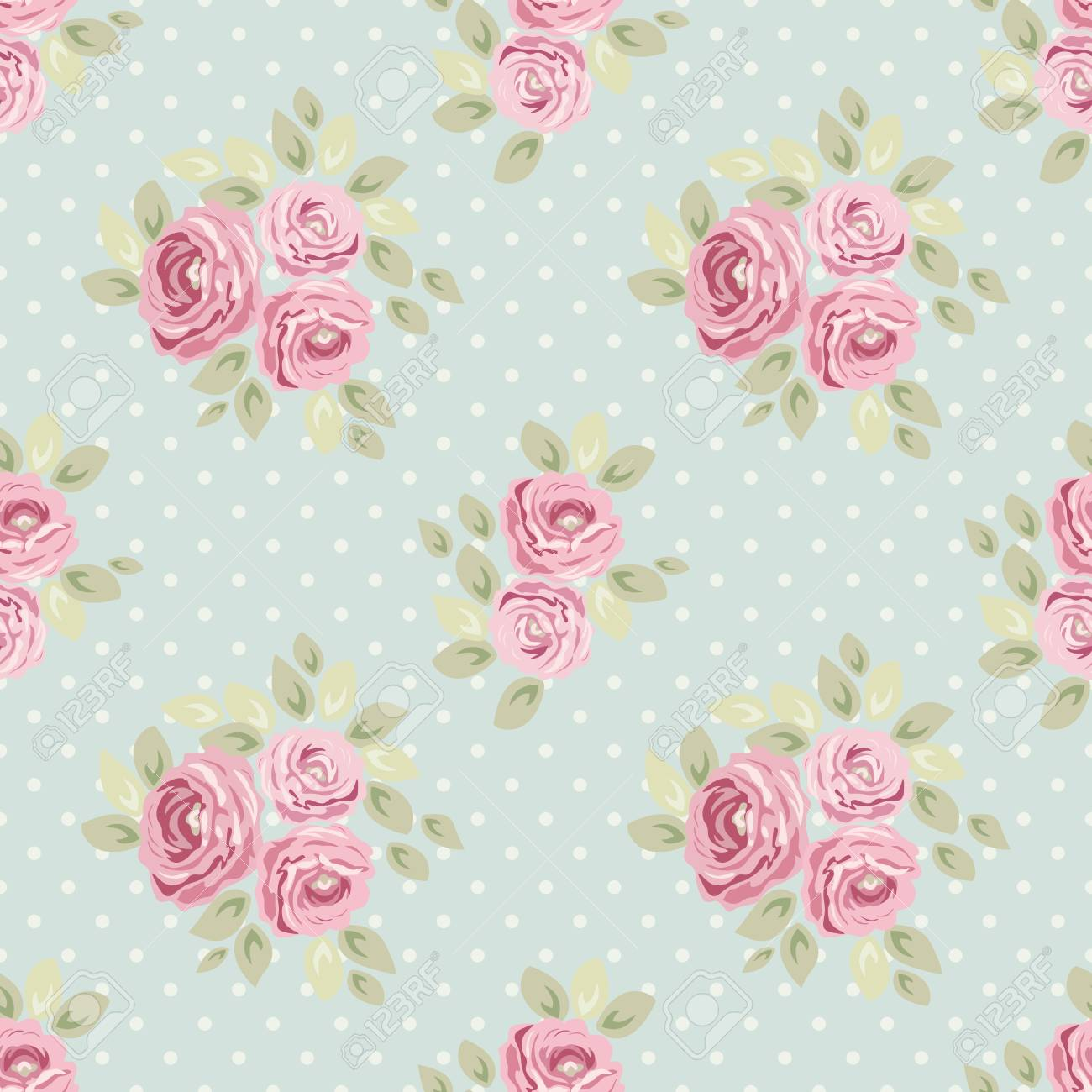 Cute Vintage Seamless Shabby Chic Floral Pattern For Your 1300x1300