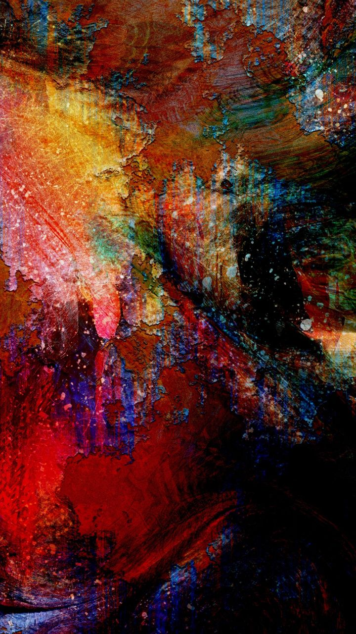 720x1280 Artwork canvas surface colorful wallpaper in 2020 720x1280