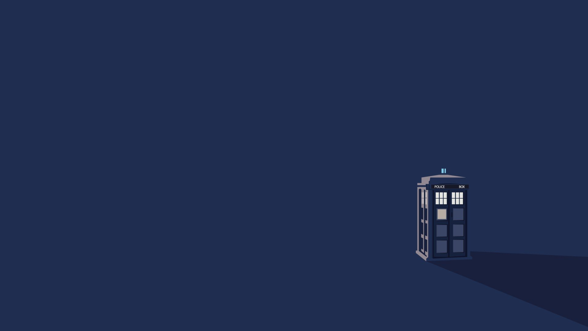 Moving Tardis Desktop Wallpaper