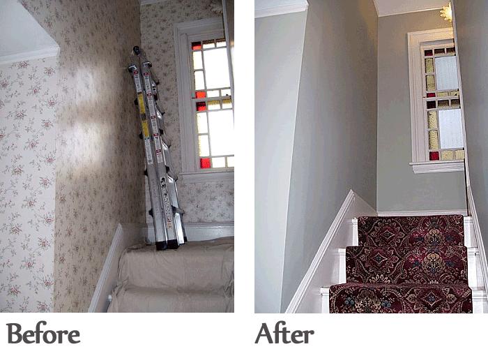 Before After JB Paint Wallpaper wallpaper removal restoration 700x500