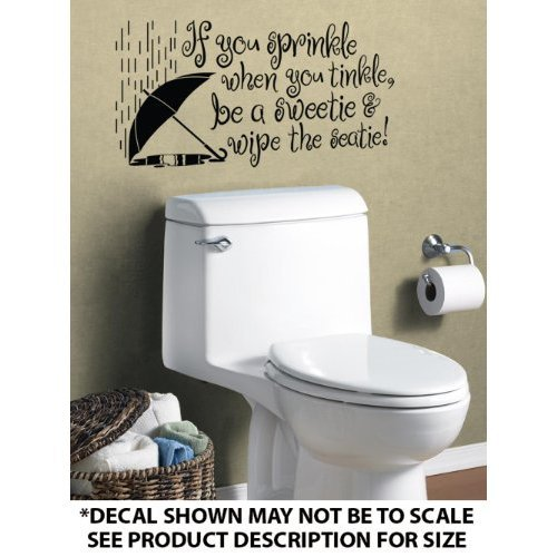 If You Sprinkle Bathroom Vinyl Wall Art Decal Decor Words 500x500