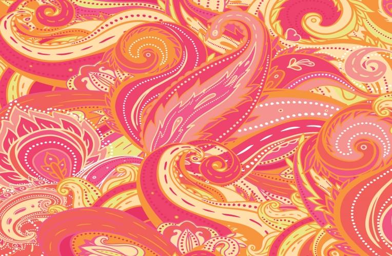 red paisley wallpaper wallpapersafari