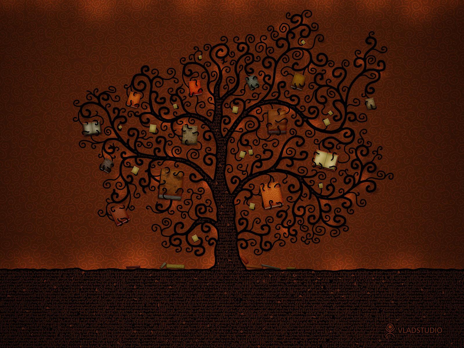 Book iPad wallpaper   Tree of Books 1600x1200