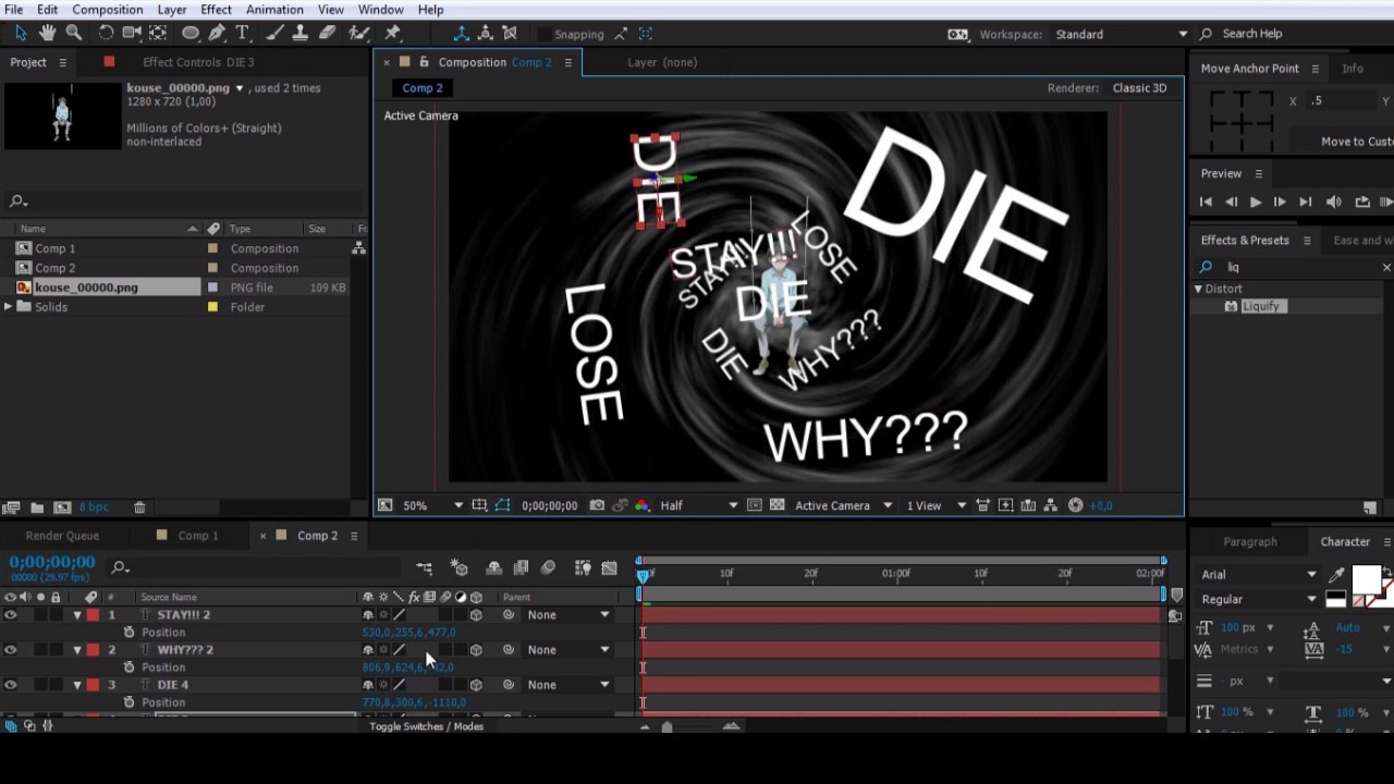 AMV TUTORIAL Black Hole Background and Camera Moves 1280x720