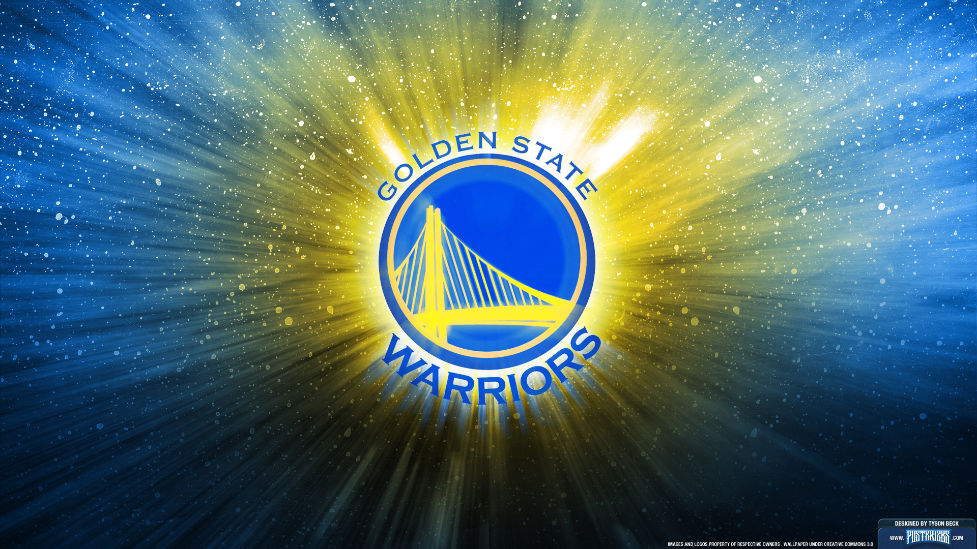 NBA Golden State Warriors team logo widescreen HD wallpaper Wallpaper 1920x1080