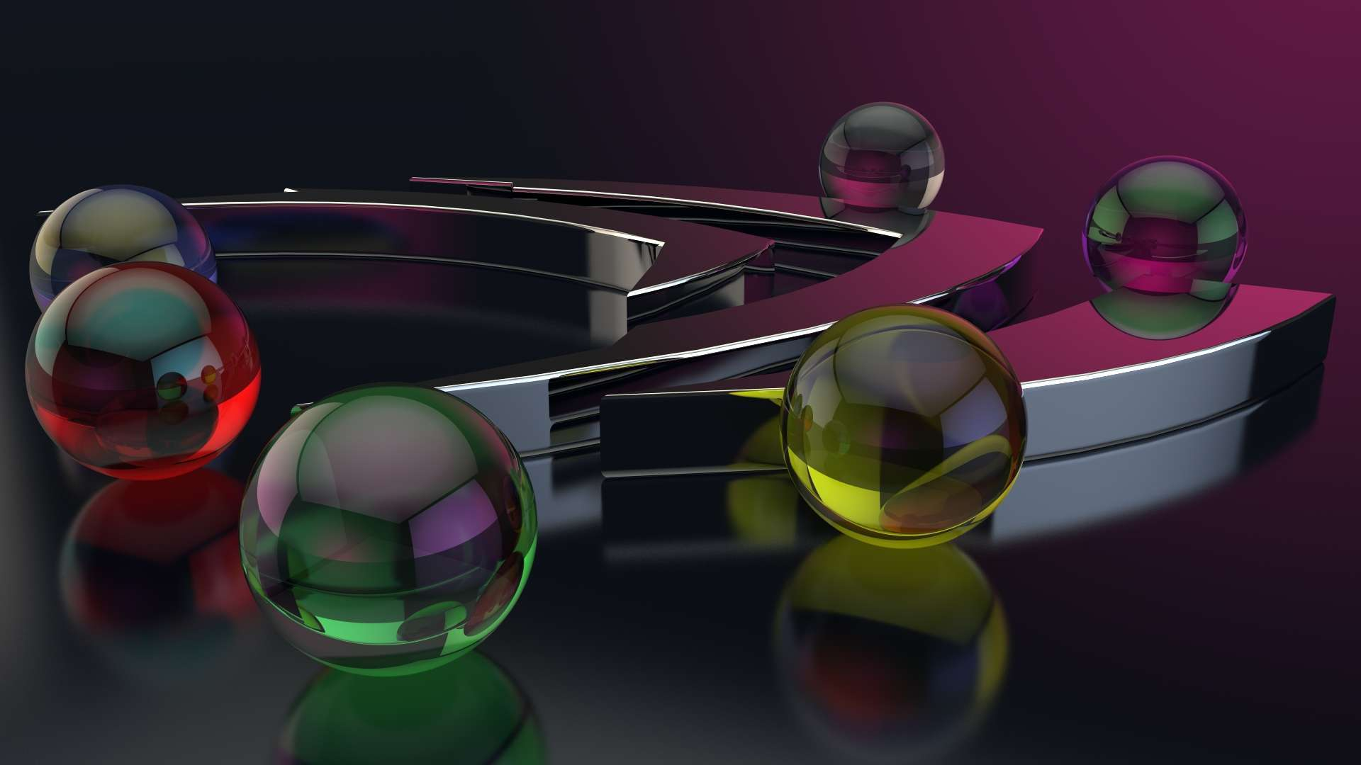 Wallpaper Balls Form Glass Surface Gloss Hd Wallpaper 1080p Upload 1920x1080