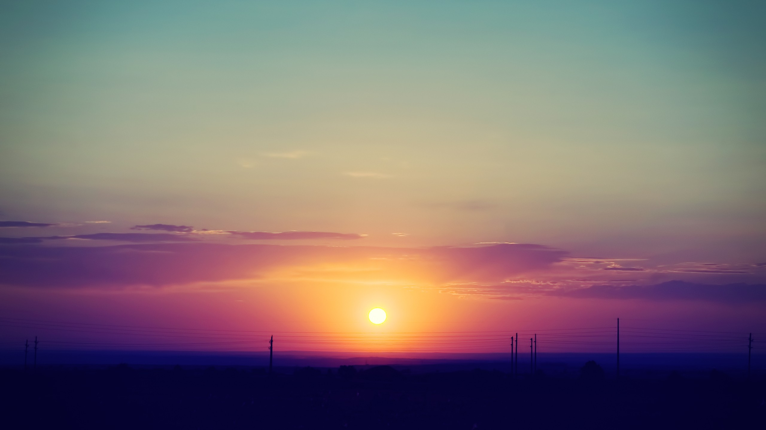 2560x1440 Summer Sunset desktop PC and Mac wallpaper 2560x1440