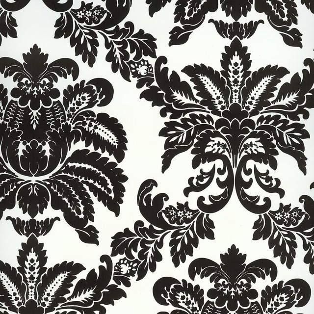 BC1580982 Black and White Damask Wallpaper   Traditional   Wallpaper 640x640