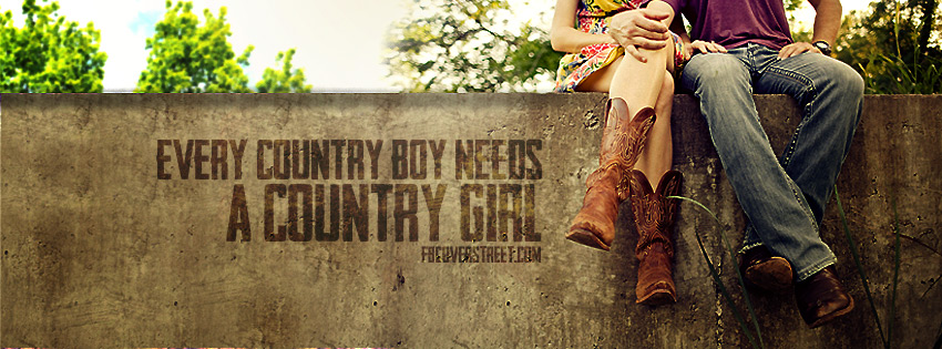 Every Country Boy Needs A Country Girl Wallpaper 850x315