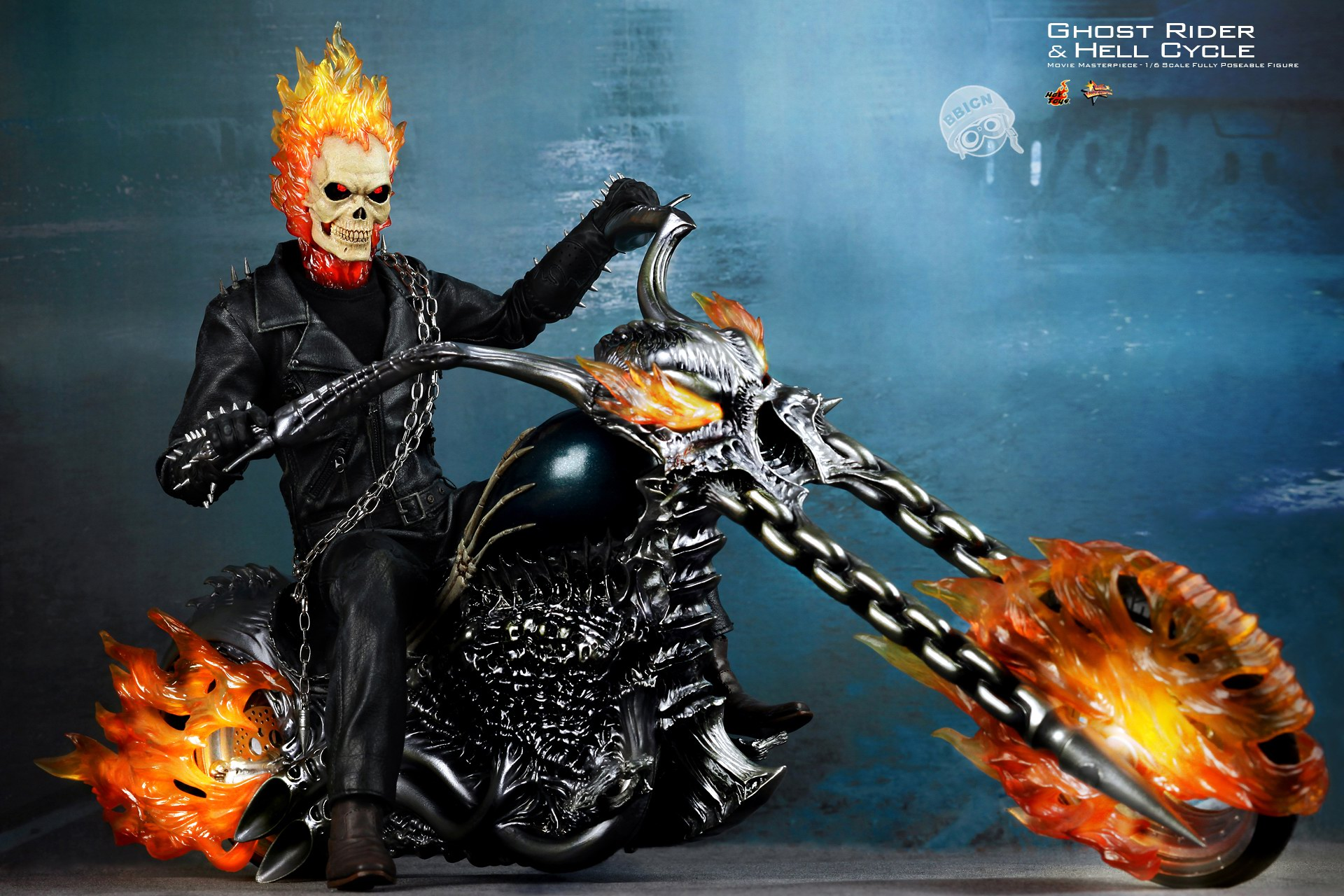 MMS133 Ghost Rider Ghost Rider Limited Figurine with Bike 1920x1280