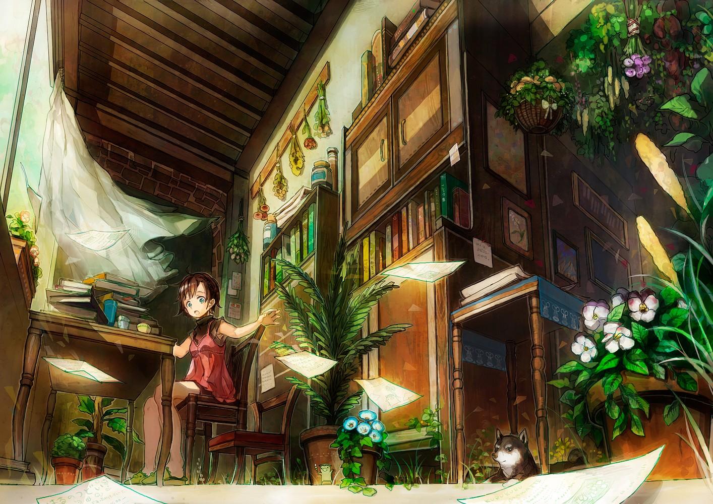Scenic Anime Wallpaper 1414x1000 Scenic Anime Girls 1414x1000