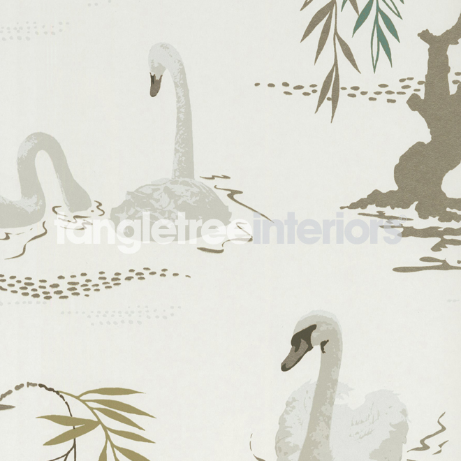 nina campbell wallpaper swan lake