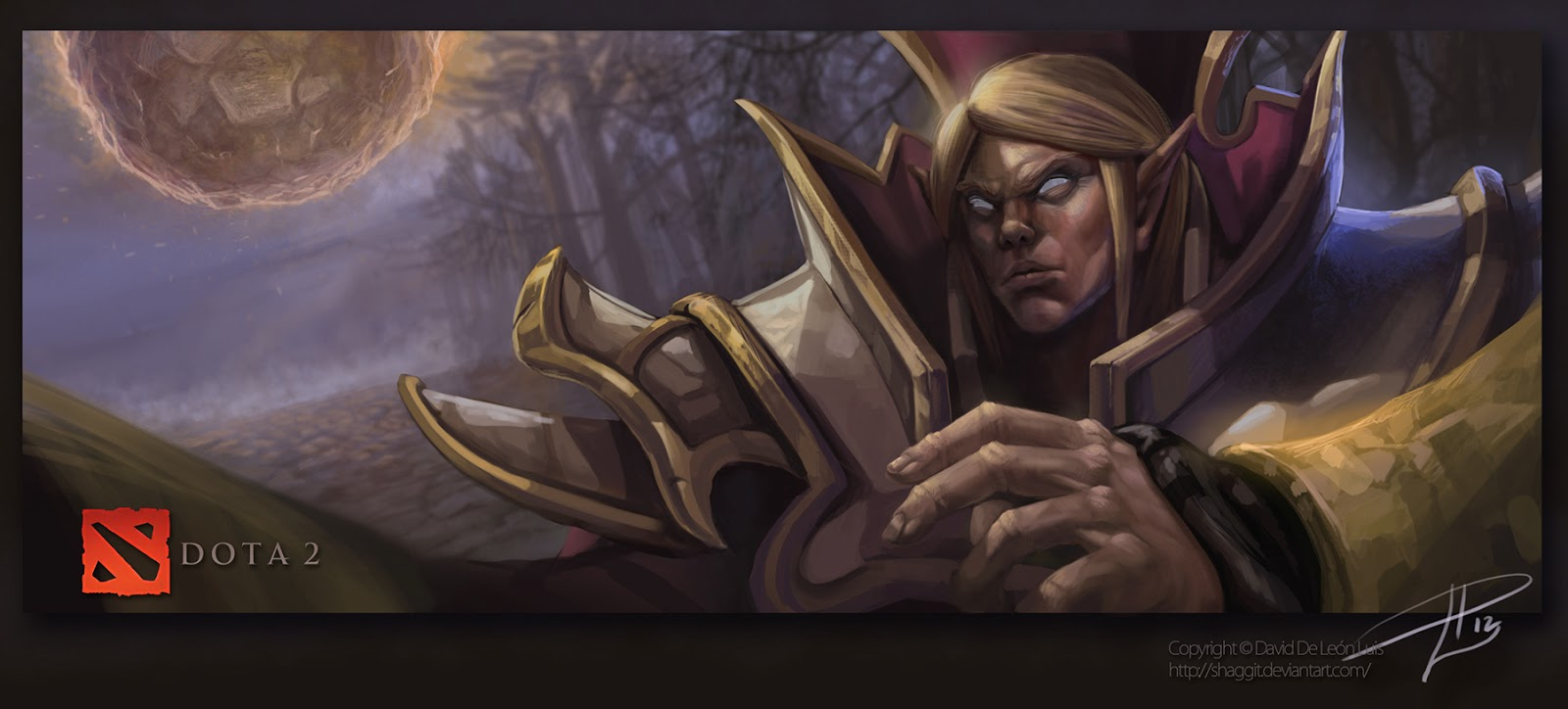 Dota 2 Wallpapers Dota2 Fan Art Invoker by david de leon luis 1600x724