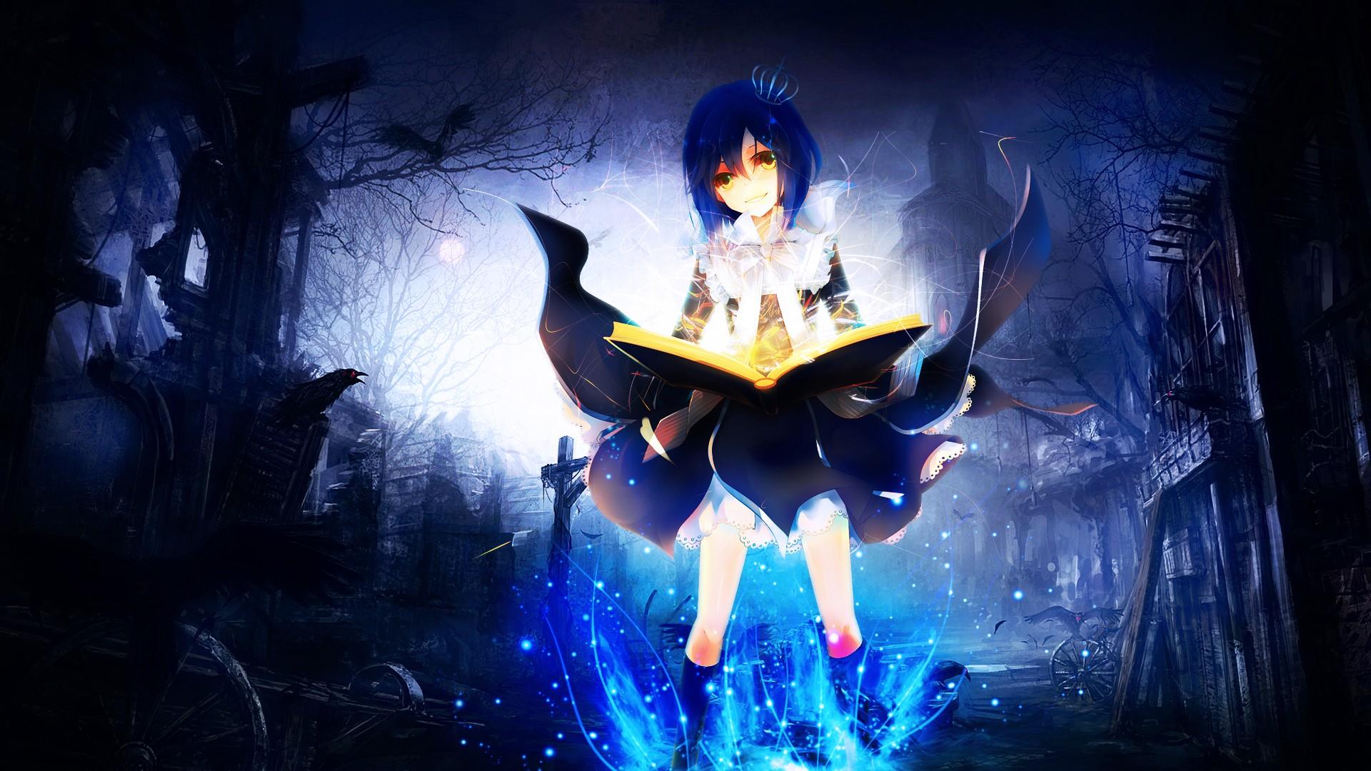 Anime Girl With Magic wallpaper   821742 1920x1080