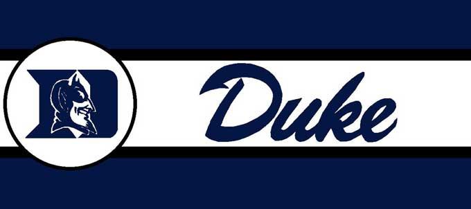 Duke Blue Devils 7 Tall Wallpaper Border 680x302
