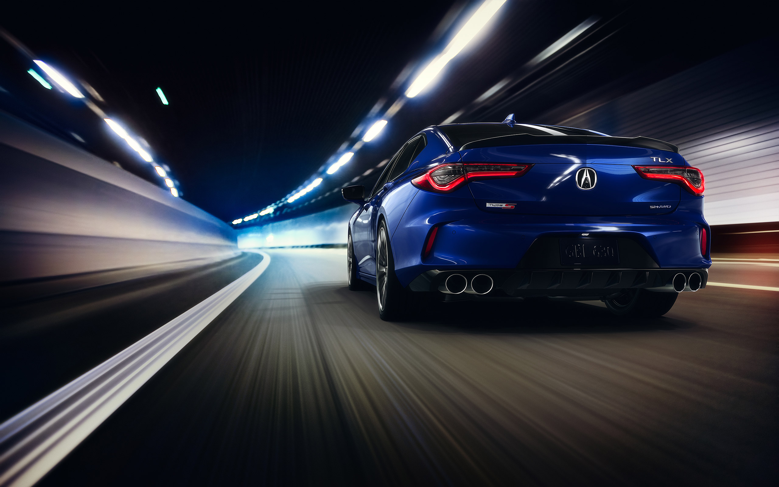 Download wallpapers 2021 Acura TLX Type S rear view exterior 2560x1600