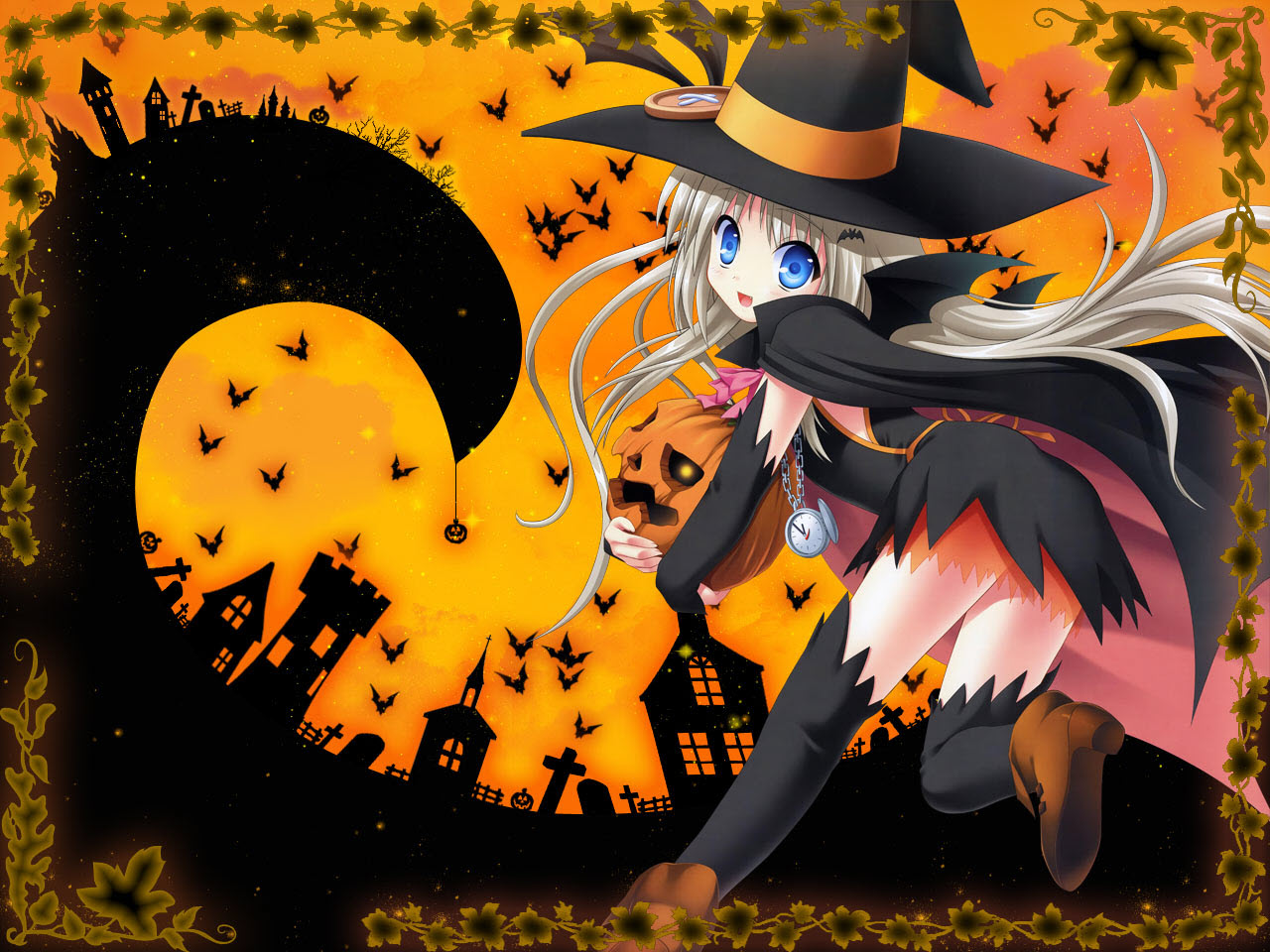 Halloween Anime Girl Beauty Wallpaper Important Wallpapers 1280x960