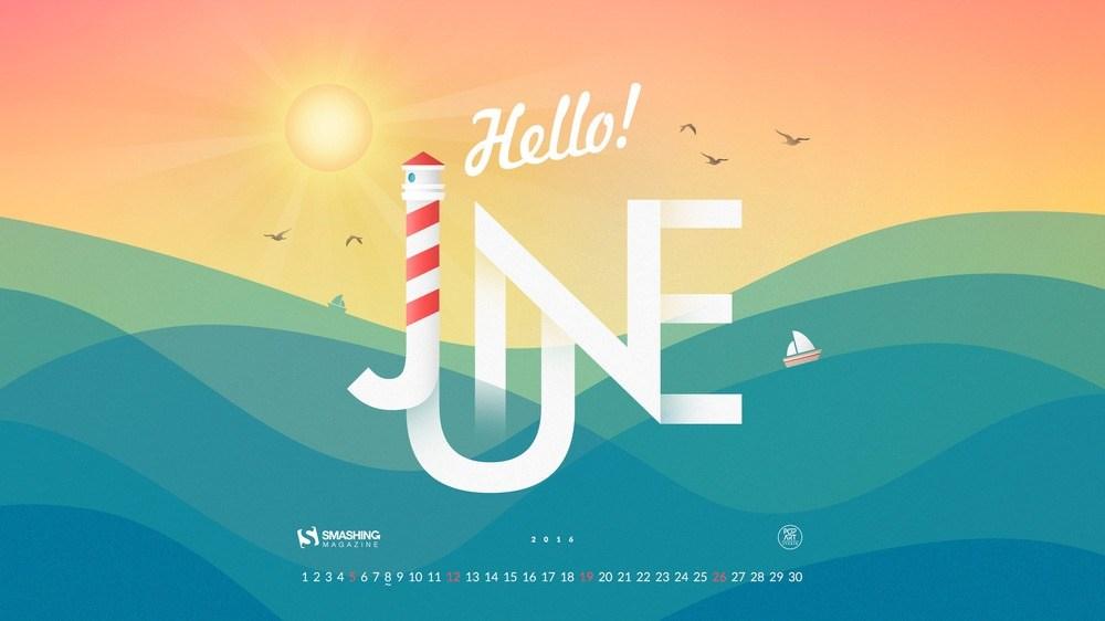 Download Smashing Magazine Desktop Wallpaper Calendar June 2016 1000x562