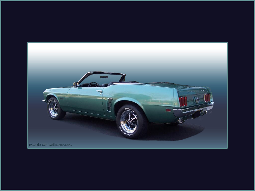1969 Ford Mustang Convertible   Green Metallic   Wallpaper 1024x768