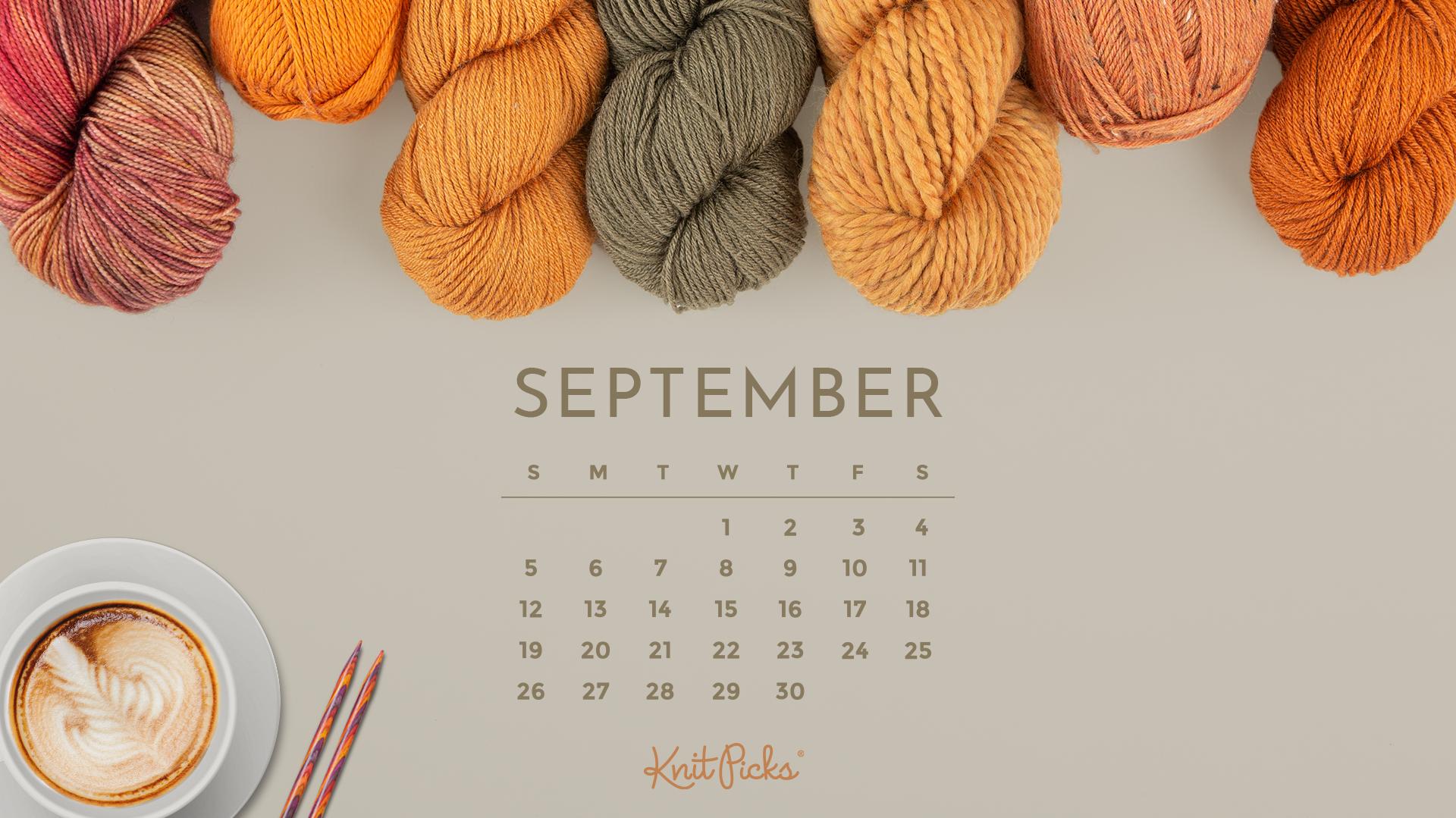 Downloadable September 2021 Calendar   KnitPicks Staff 1920x1079