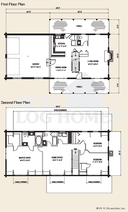 plan 3 bedroom log home luxury ranch homes house 182 450x744