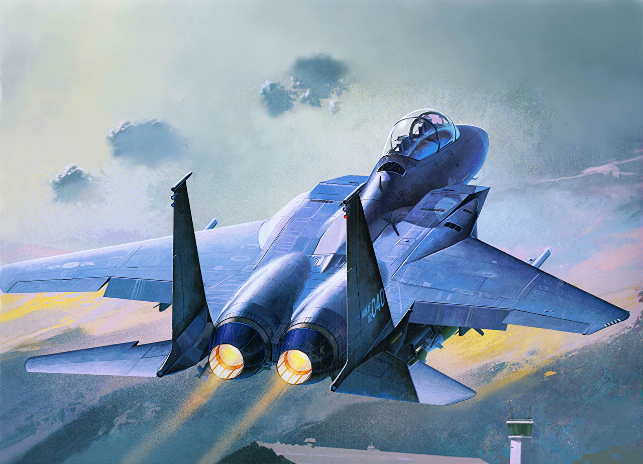 Photos Airplane F 15K Painting Art Aviation 1280x924