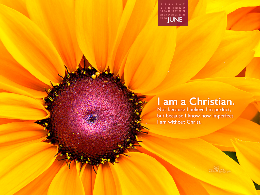 am a Christian Desktop Calendar  Monthly Calendars Wallpaper 1024x768