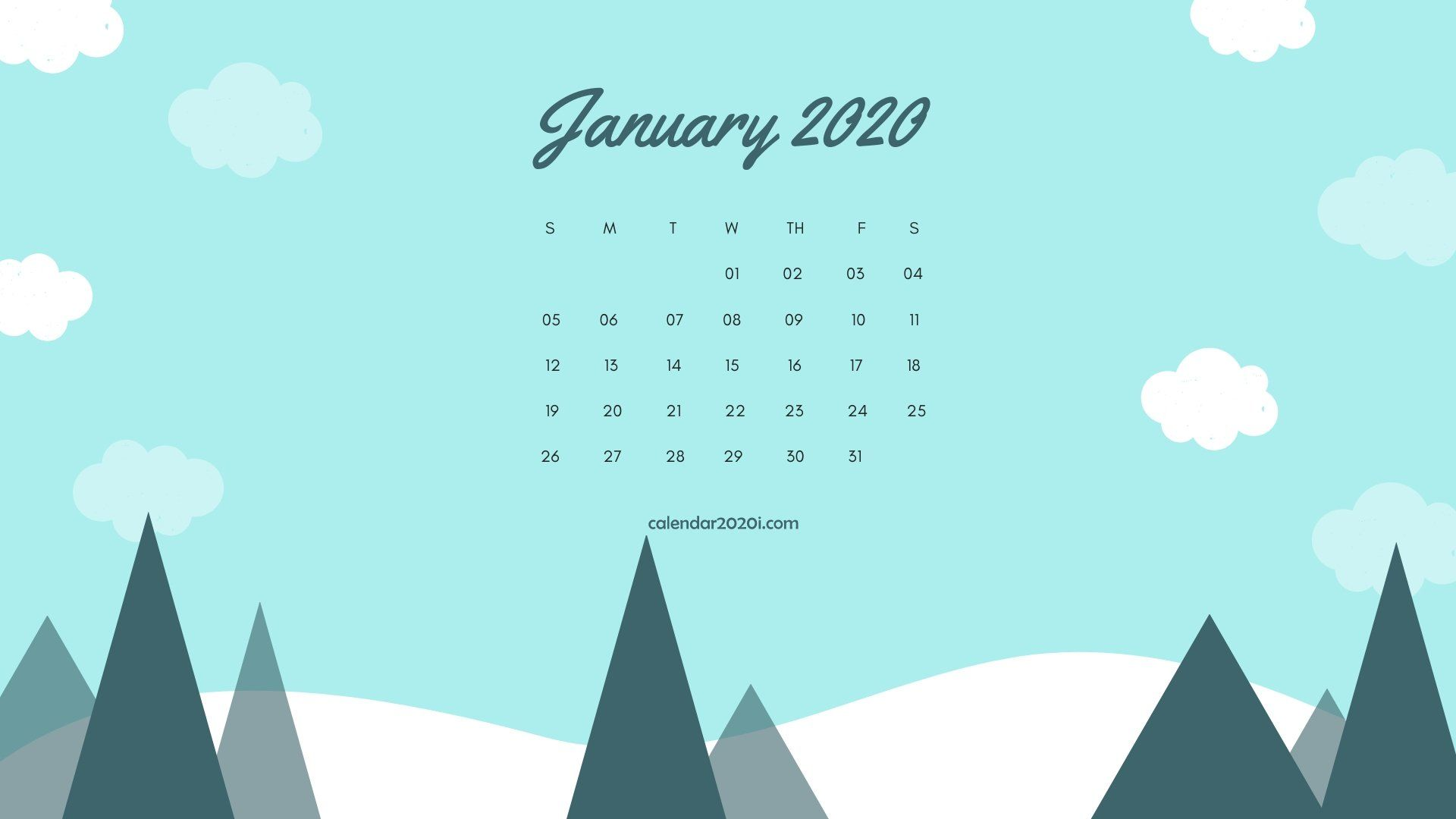 January 2020 Calendar Wallpapers   Top January 2020 Calendar 1920x1080