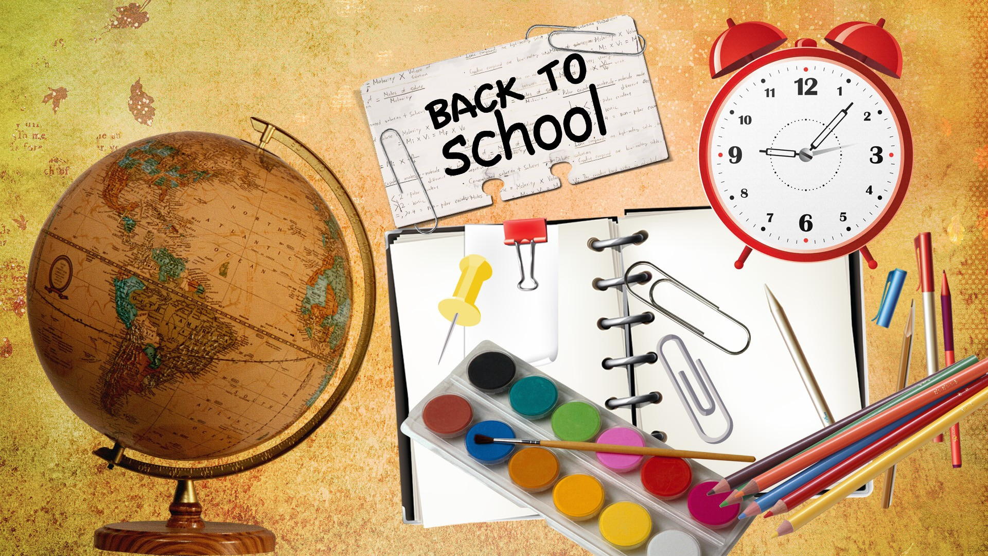 Download Back to School Background 1920x1080