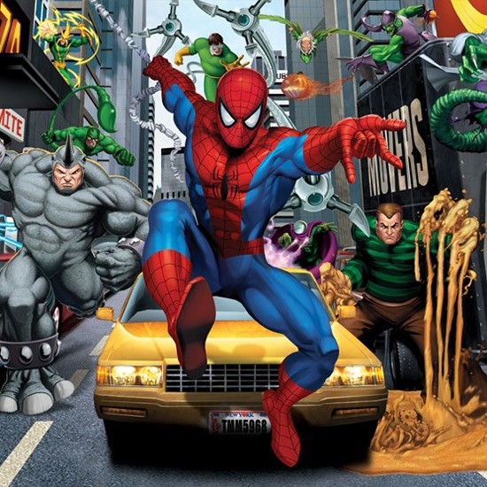 Spiderman wallpaper by Walltastic Childrens wallpaper Wallpaper 550x550