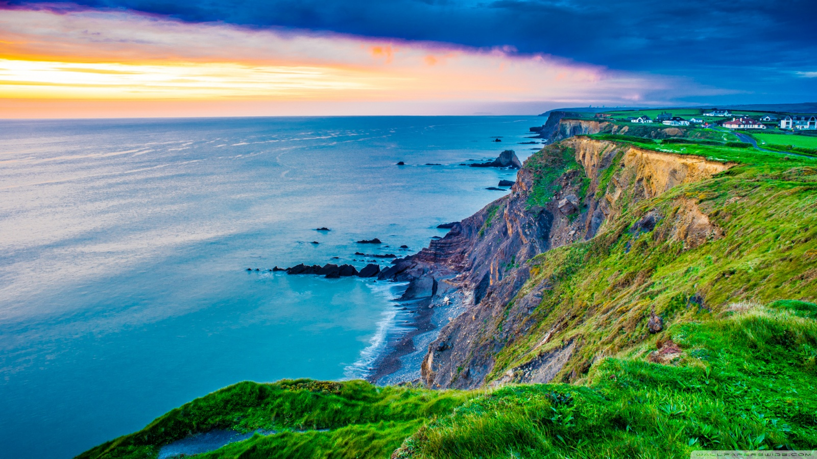 Coast Cornwall England United Kingdom 4K HD Desktop 1600x900
