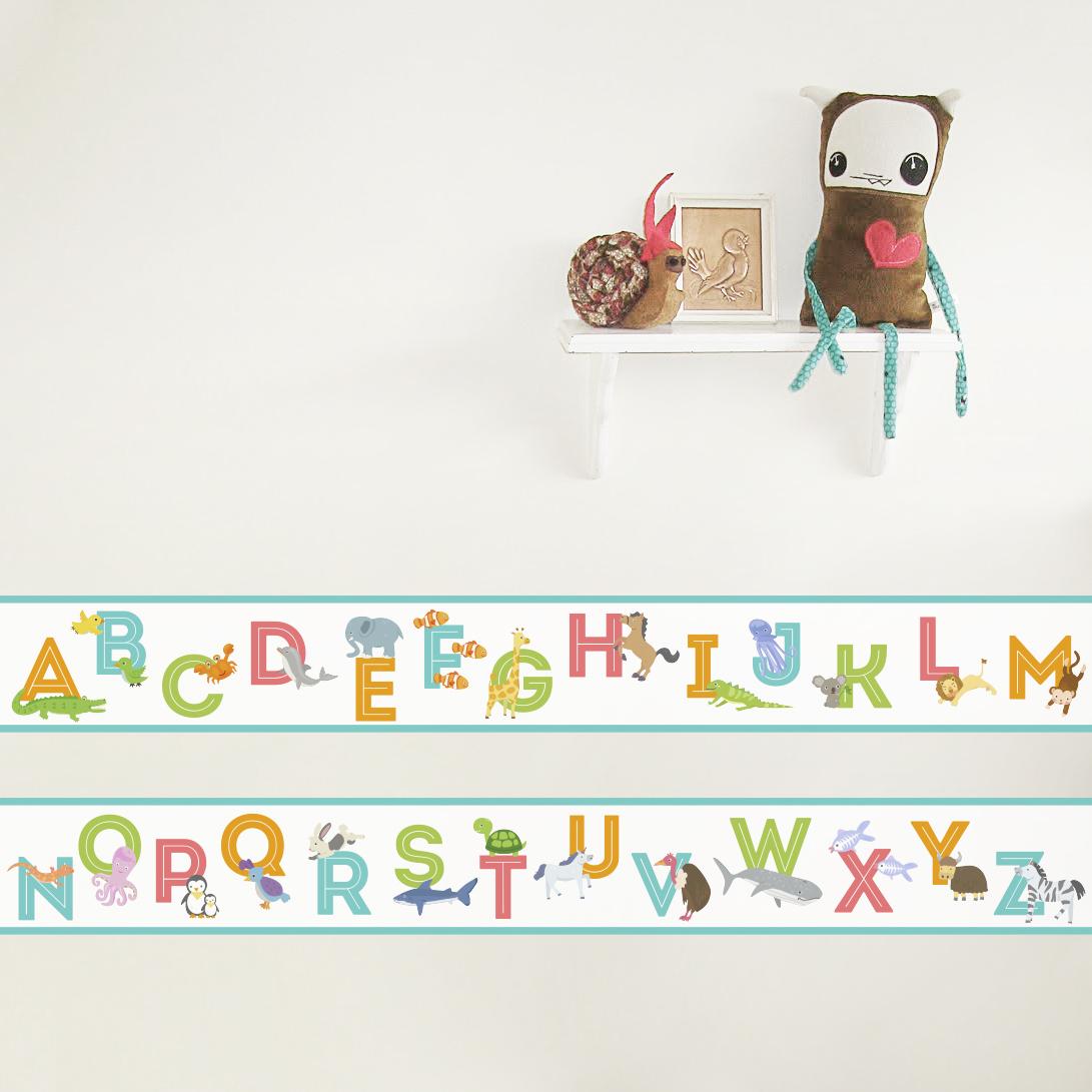 Animal Alphabet Removable Border 1091x1091