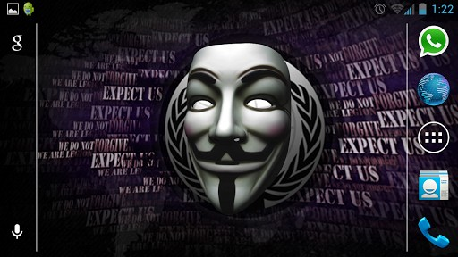 View bigger   Anonymous Vendetta Mask 3D for Android screenshot 512x288