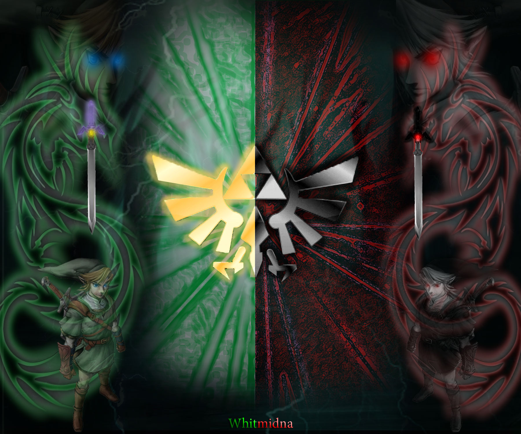 Link And Dark Link Link vs dark link background 1800x1500
