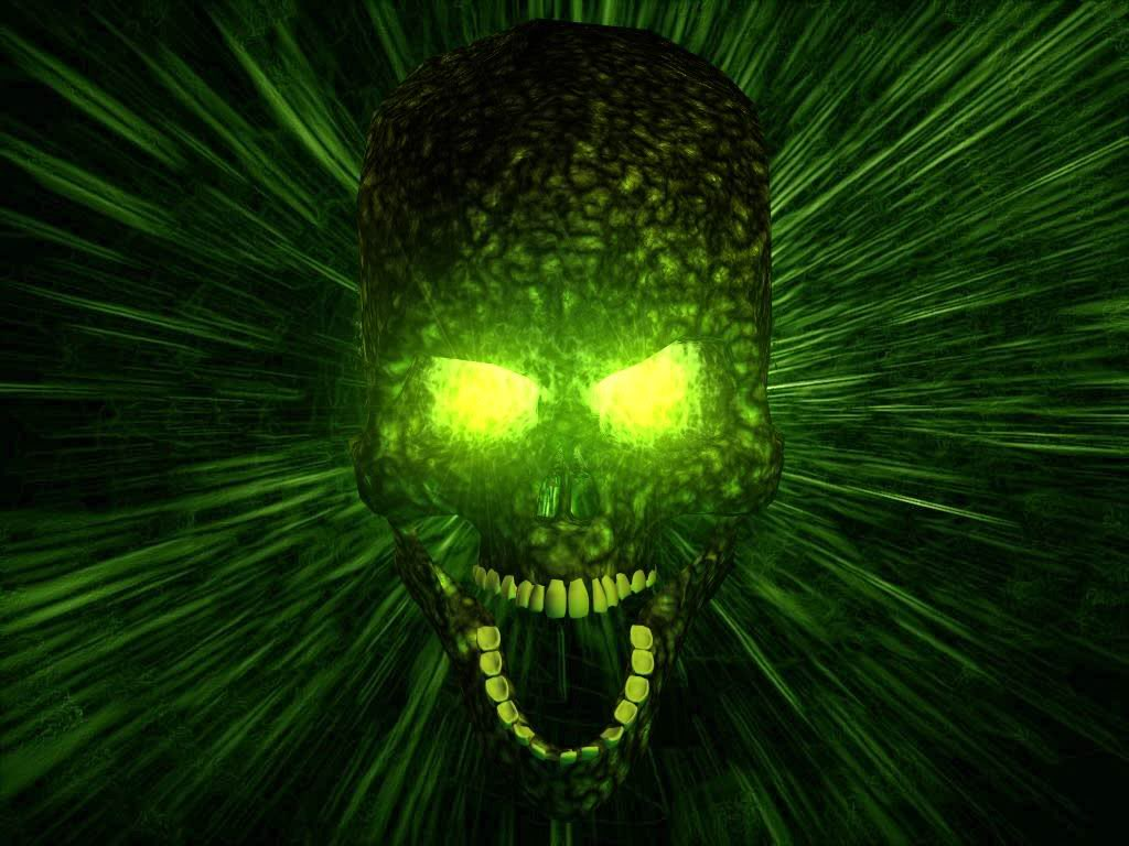 green skull wallpapers Scary Wallpapers 1024x768