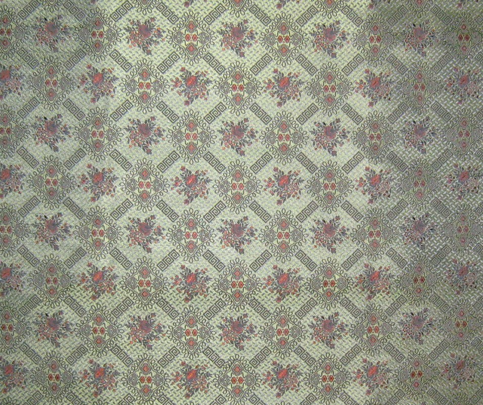 Pretty Green Victorian Wallpaper Silk Brocade Fabric by silkfabric 956x802